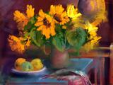 Sonnenblumen Giclée-Premiumdruck von  yakymenko