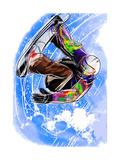 Hand Draw Snowboarding Arte por  jim80