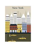 New York City. Vector Posters por  Ladoga