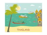 Thailand. Vector Posters por  Ladoga