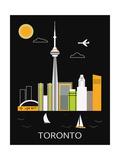 Toronto City. Vector Posters por  Ladoga