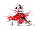 Tango Print by  okalinichenko