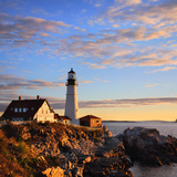 Morning at the Portland Headlight, Portland Maine Photographic Print by Paul Lemke