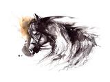 Horse Premium Giclee Print by  okalinichenko