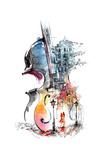 Music and the City Affiches par  okalinichenko