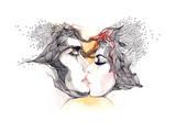 Kiss Premium Giclee Print by  okalinichenko