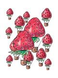 Background of Strawberrys Fly Posters tekijänä  tannene