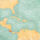 Map of Caribbean - Costa Rica (Vintage Series) Juliste tekijänä  Tindo