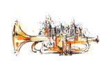 City Giclee Print by  okalinichenko