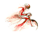 Racing Cyclist Prints by  okalinichenko