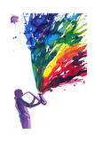 Saxophone Music Posters by  okalinichenko