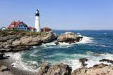 Lighthouse in Portland, Maine Reproduction photographique par  LuciaP