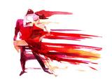 Dancing Couple Poster by  okalinichenko