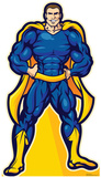 Super Hero In Blue Lifesize Standup Cardboard Cutouts