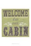 Cabin Life I Láminas por June Erica Vess