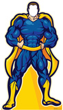 Super Hero In Blue Stand In Cardboard Cutouts