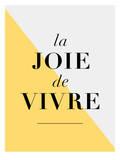La Joie De Vivre Yellow Láminas por Brett Wilson