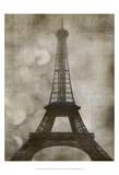 Vintage Eiffel I Print by Honey Malek