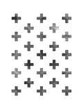 Swiss Cross Pattern on White Posters by Brett Wilson