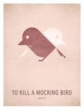 To Kill a Mocking Bird_Minimal Kunstdruck von Christian Jackson