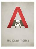 The Scarlet Letter Minimal Kunstdruck von Christian Jackson