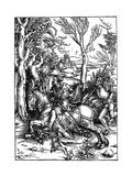 The Knight and the Landsknecht (Soldier Servan), 1497-1498 Reproduction procédé giclée par Albrecht Durer