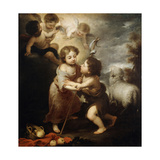 Christ and John the Baptist as Children, Between 1655 and 1660 Giclee Print by Bartolomé Esteban Murillo