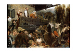 A Travelling Circus (Cameleers in Partenkirche), 1884 Giclee Print by Adolph Menzel