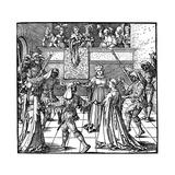 Dance by Torchlight, Augsburg, 1516 Reproduction procédé giclée par Albrecht Durer