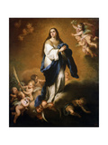 The Assumption of the Blessed Virgin Mary, Between 1645 and 1655 Giclée-tryk af Bartolomé Esteban Murillo