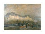 View of the Pont Neuf and the Ile De La Cite, Paris, Late 19Th/Early 20th Century Giclee Print by Albert Lebourg