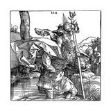 St Christopher Carrying the Infant Christ, 1511 Reproduction procédé giclée par Albrecht Durer