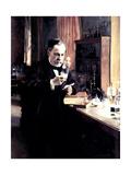 Louis Pasteur, 1885 Giclée-tryk af Albert Edelfelt