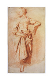 Woman in Peasant Dress, Early 1670S Giclée-Druck von Adriaen van de Velde