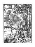 St John Devouring the Book, 1498 Reproduction procédé giclée par Albrecht Durer