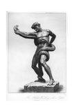 The Athlete Wrestling with a Python, C1880-1882 Giclée-tryk af A Gilbert