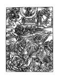 The Four Vengeful Angels, 1498 Reproduction procédé giclée par Albrecht Durer