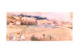 Landscape with House and Watermill, C1500 Reproduction procédé giclée par Albrecht Durer