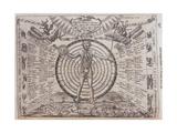 An Astrological Chart, 1646 Giclee Print by Athanasius Kircher
