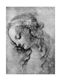The Head of the Madonna, 15th Centuy Giclée-tryk af Andrea del Verrocchio