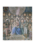 Madonna and Child with Angels, C1443 Giclée-tryk af Andrea Del Castagno