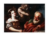 Allegory of Mathematics, Early 17th Century Lámina giclée por Bernardo Strozzi