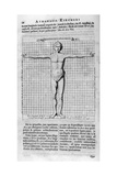 Proportions of Man, 1675 Giclee Print by Athanasius Kircher
