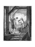 The Toilet of the Clerk Prosecutor Giclée-Druck von Antoine Charles Horace Vernet