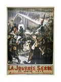 25 June 1916 - Serbia Day, French World War I Poster, 1916 Giclee Print by Charles Fouqueray