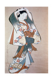 Standing Beauty Arranging Her Hair, C1714 Giclee Print by Ando Kaigetsudo
