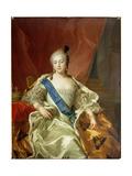 Portrait of Empress Elisabeth Petrovna, 1760 Giclee Print by Carle van Loo