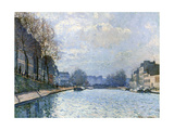 View of the Canal Saint-Martin, Paris, 1870 Giclee Print by Alfred Sisley