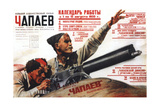 Poster for the Film Chapayev, 1935 Impressão giclée por Anatoly Belsky