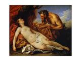 Jupiter and Antiope, C1753 Giclee Print by Carle van Loo